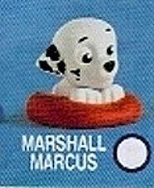 Spin Master - mini figurka 4 cm ( I série v sáčku  ) Paw Patrol - ležící Marshall