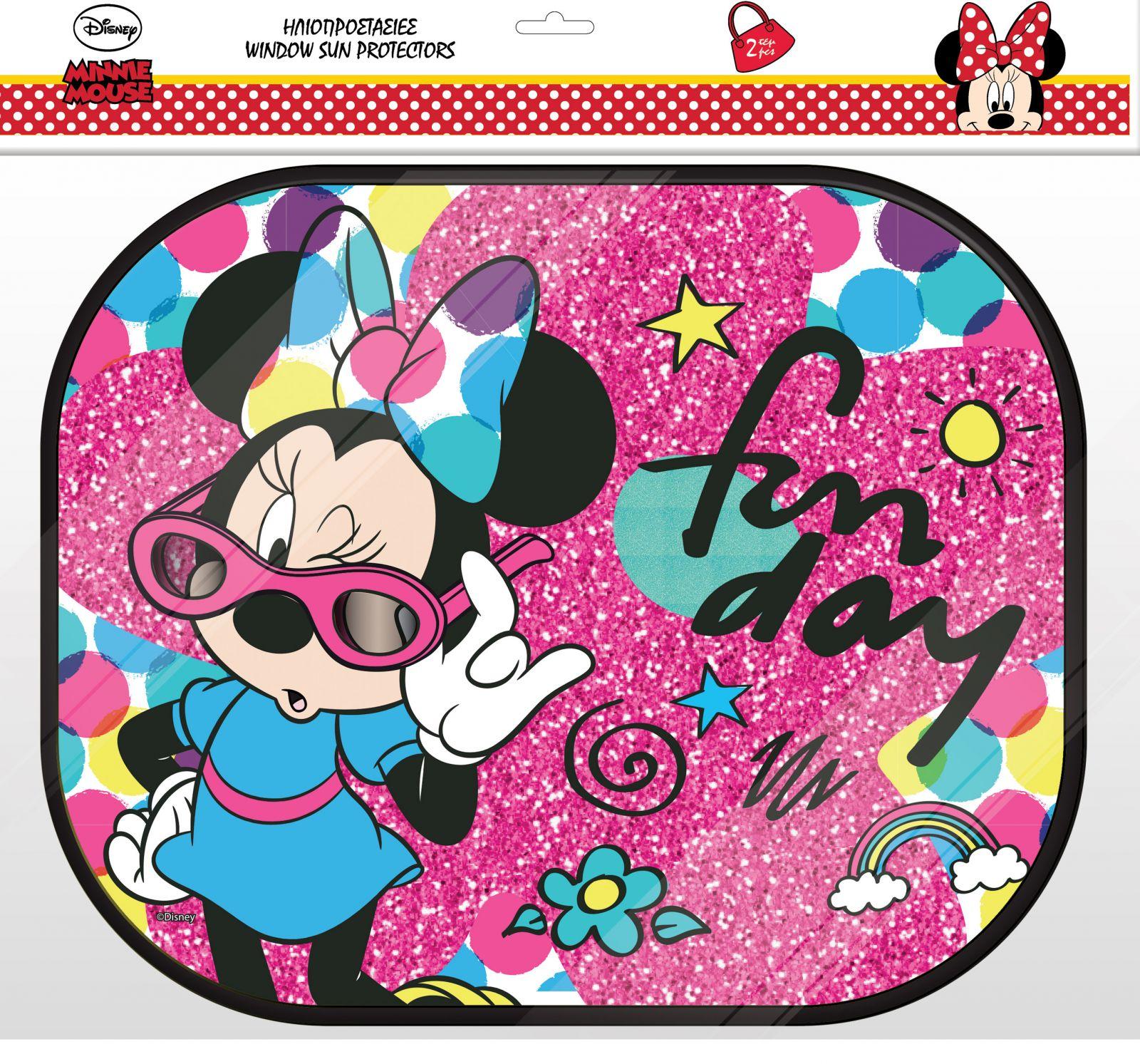 Stínítko do auta ( sluneční clona ) 2 ks - Minnie Mouse 2ks + plakát Diakakis
