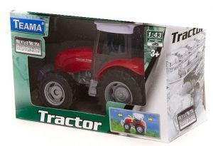 TEAMA - traktor  1:43 - červená barva