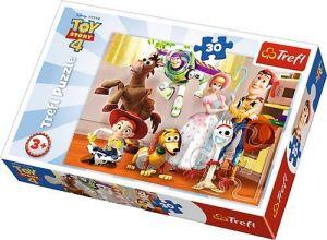 Trefl puzzle  30 dílků  - Toy Story - připraveni k zábavě   18243