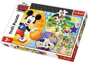 Trefl Puzzle Maxi 24 dílků - Mixkey Mouse - čas na sport 14291