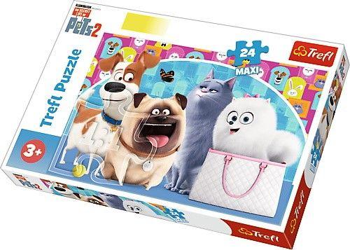 Trefl Puzzle Maxi 24 dílků - Tajný život mazlíčků 2 14296