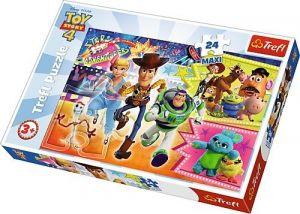 Trefl Puzzle Maxi 24 dílků - Toy Story - v poklusu  za dobrodružstvím  14295
