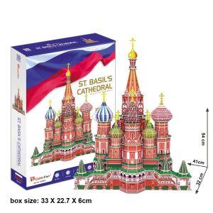 3 D Puzzle CubicFun - Chrám Vasila Blaženého  Moskva  214 dílků