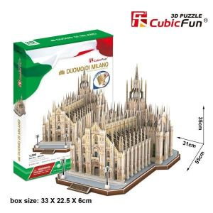 3 D Puzzle CubicFun - katedrála Mediolan  - Miláno  251 dílků