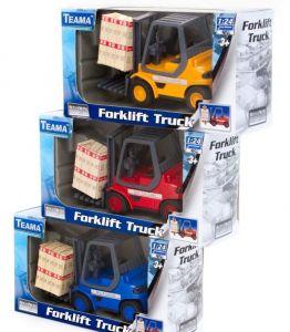 TEAMA - vysokozdvižný vozík Forklift 50 1:24 - žlutá barva