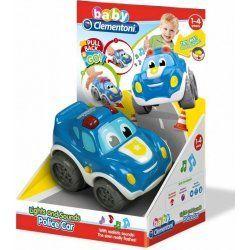 Clementoni Baby - policejní auto  se zvuky a světly na pull back  17179