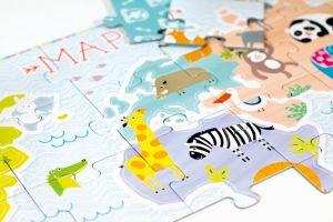 CzuCzu Puzzle Mapa světa 35 dílků + 30 figurek