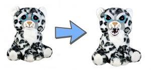Feisty Pets  bílý leopard  - plyšový  20 cm