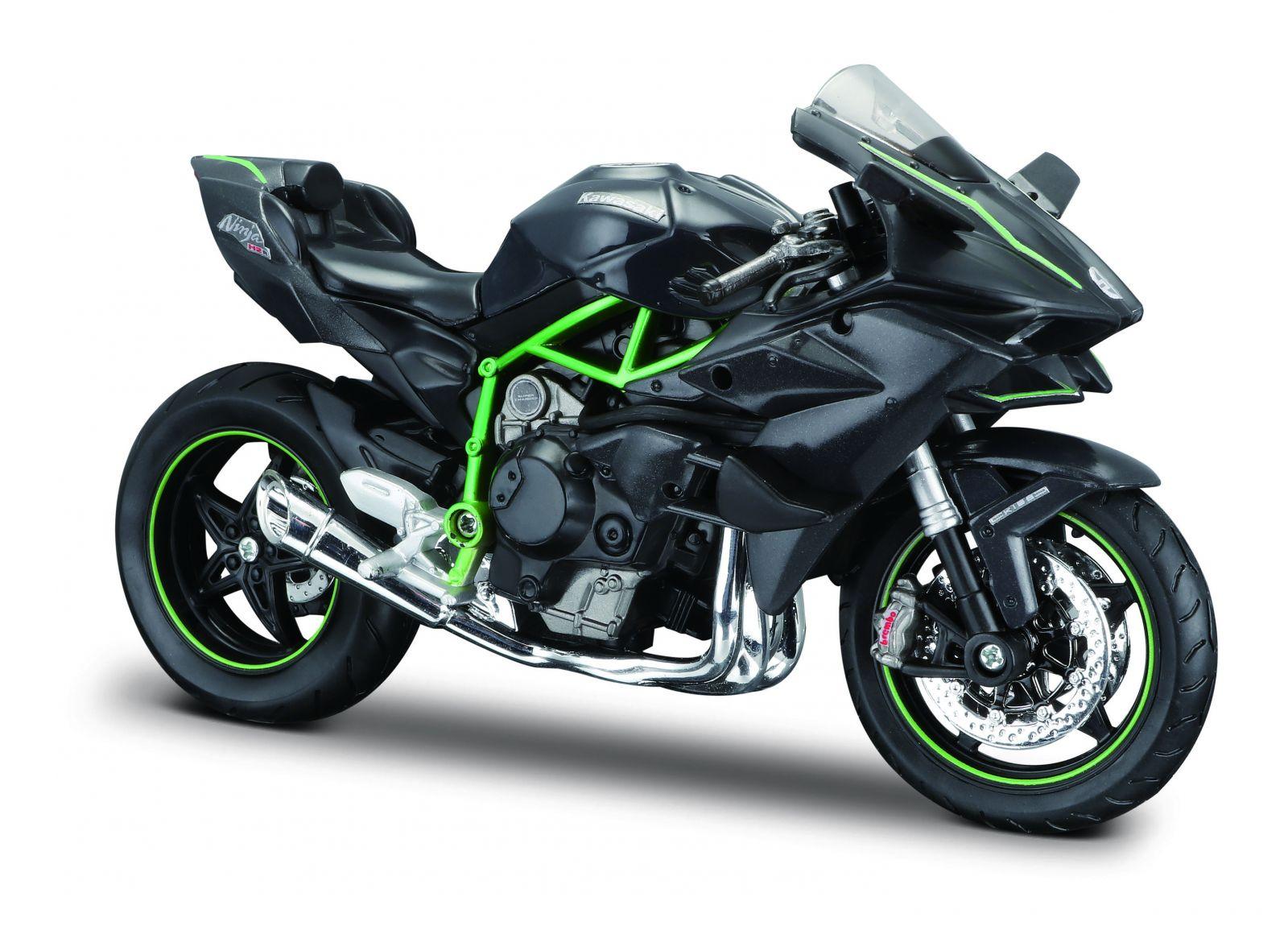 Maisto motorka 1:12 Kawasaki Ninja H2 R - černá