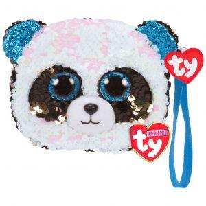 Meteor TY - plyšová kabelka do ruky s flitry   -  panda Bamboo 95236