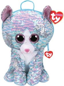 Meteor TY - větší plyšový batoh  s flitry - kočička Whimsy  95033