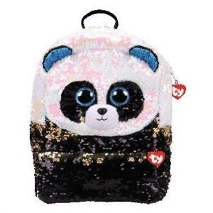 Meteor TY - větší plyšový batoh  s flitry - panda Bamboo  95042