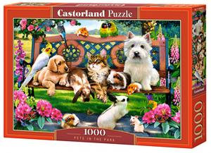 Puzzle Castorland  1000 dílků - Domácí zvířata v parku 104406
