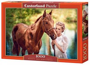 Puzzle Castorland  1000 dílků - Kráska s koněm 104390