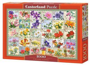 Puzzle Castorland  1000 dílků - Květiny - koláž  104338