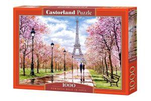 Puzzle Castorland  1000 dílků - Romantická procházka po Paříži  104369