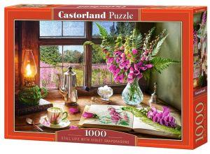 Puzzle Castorland  1000 dílků - Zátiší s fialovými květy   104345
