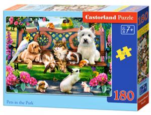 Puzzle Castorland 180 dílků - Domácí zvířata v parku  018444