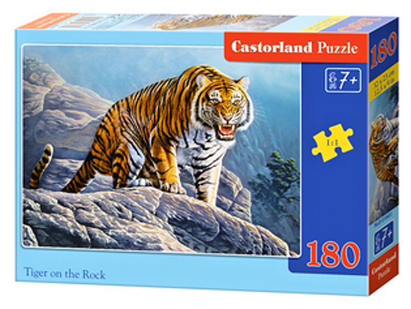 Puzzle Castorland 180 dílků - Tygr na skále 018451