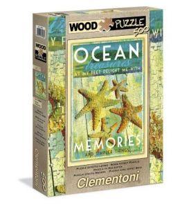 Puzzle Clementoni 500 dílků  wood. - vzpomínky na oceán  37038