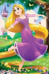 Puzzle mini 54 d - Trefl - Ve světě princezen - Locika 19645