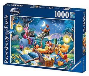 Puzzle Ravensburger 1000 dílků - Medvídek Pů - večerní piknik 158751