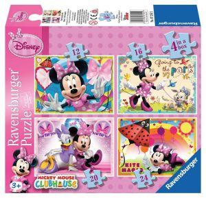 Puzzle Ravensburger  4v1 12, 16, 20 a 24  dílků  Minnie Mouse  072552
