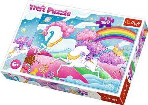 Puzzle   Trefl  160 dílků - Běžící jednorožci  15372