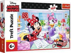 Puzzle   Trefl  160 dílků - Minnie Mouse - den  s Daisy 15373
