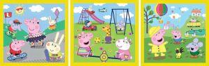 Puzzle   Trefl  3v1 - 20, 36 a 50 dílků  - Prasátko Peppa - veselý den    34849