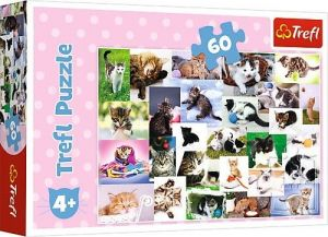 Puzzle   Trefl 60 dílků - Kočičí svět 17332