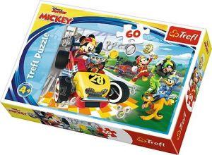 Puzzle   Trefl 60 dílků - Minnie Mouse - závodníci    17322