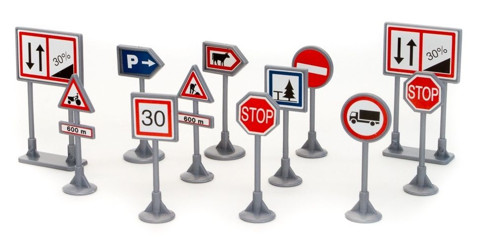 TEAMA - sada 12 dopravních značek