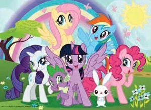 TREFL 20 dílků mini-MAXI - My Little Pony - veselý den 21078