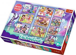 Trefl puzzle 10v1 -  Mattel - Enchantimals   90354
