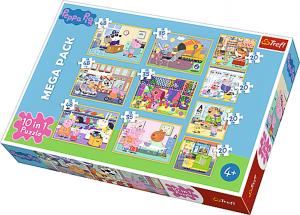 Trefl puzzle 10v1 - Peppa pig - Prasátko Peppa  90358
