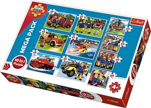 Trefl puzzle 10v1 -  Požárník Sam   90356