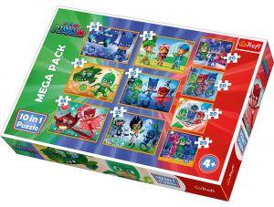 Trefl puzzle 10v1 -  Pyžamasky   90357