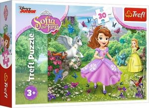 Trefl puzzle  30 dílků  - Princezna Sofie  v zahradě   18252