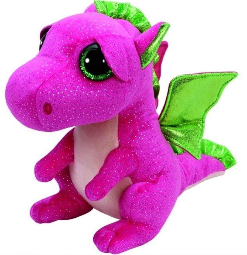 TY Beanie Boos - Darla - růžový drak 37071 - 42 cm plyšák