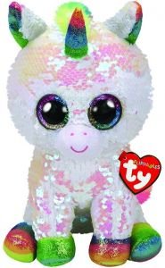 TY Beanie Boos Flippables TY Beanie Boos Flippables - Pixy - bílý jednorožec 36781 - 24 cm plyšák