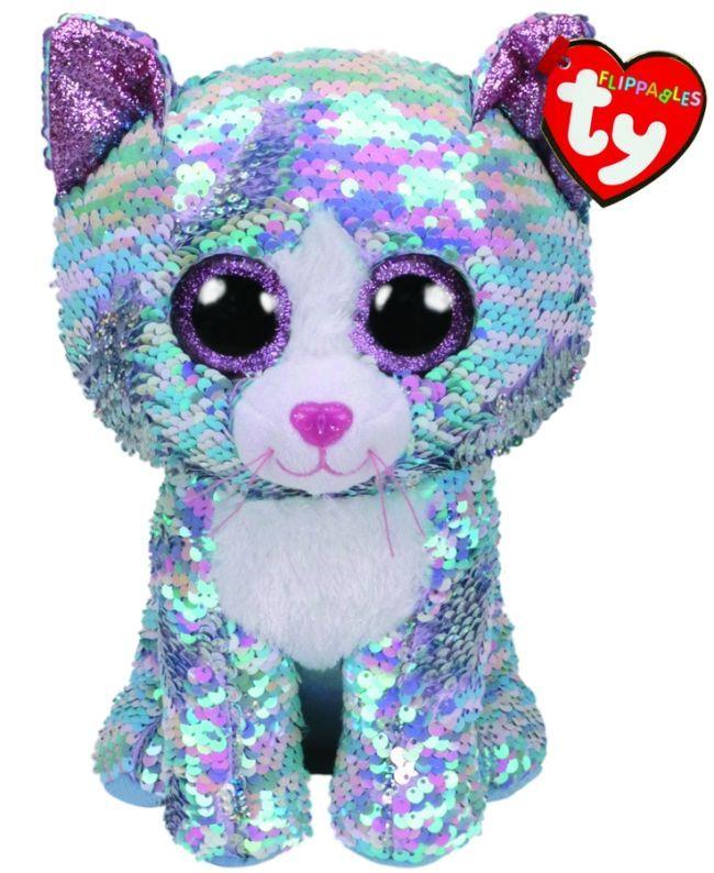 TY Beanie Boos Flippables - Whimsy - modrá kočka 36786 - 24 cm plyšák TY Inc. ( Meteor )