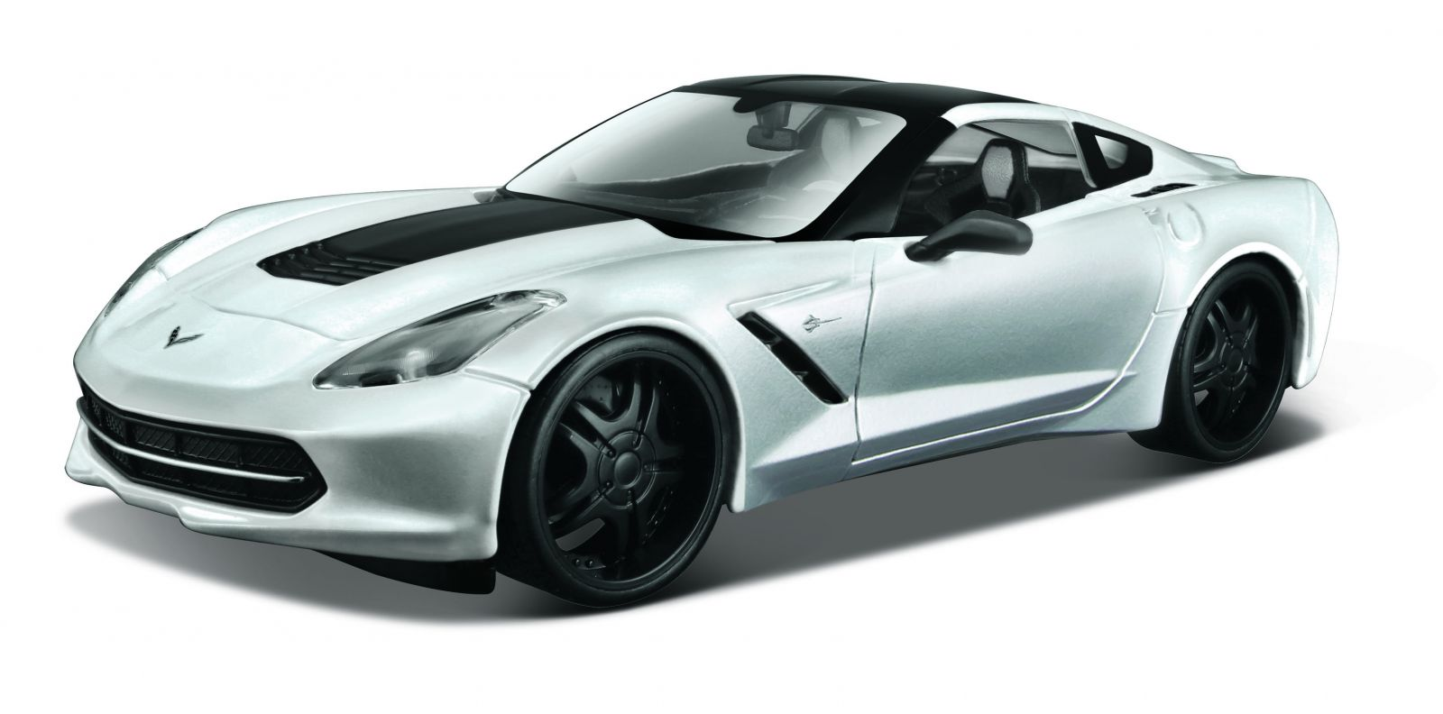 auto Maisto 1:24 Design - Corvette Stingray 2014 - stříbrná
