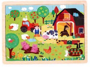 Brimarex - Dřevěné puzzle - 20  dílků farma  30 x 22  cm   1583253