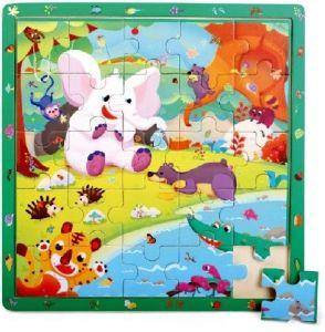 Brimarex - Dřevěné puzzle - 25  dílků  džungle  30 x 30  cm   1583178