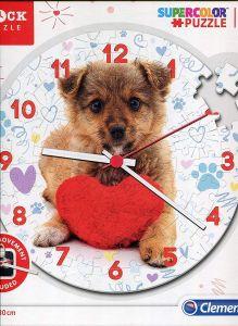CLEMENTONI Puzzle hodiny štěňátko   96 dílků  23039