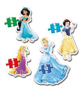 Clementoni Puzzle pro nejmenší - My first  4v1  - princezny   20813