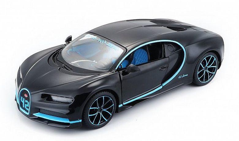 Maisto 1:24 Bugatti Chiron - černo modrá barva