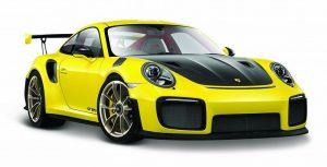Maisto  1:24 Porsche  911 GT2 RS - žlutá barva